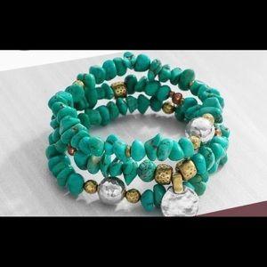 Silpada Bright Blue Stretch Bracelet